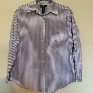 Lauren Ralph Lauren button up shirt size 12 stripe